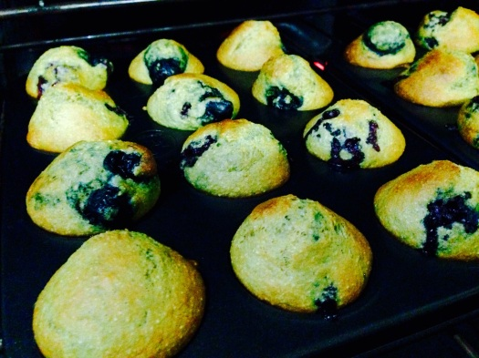 black & blueberry vegan muffins
